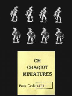 Chariot Miniatures 15mm Fantasy LIZ11 Lizard Armoured Crossbowmen (x 8)